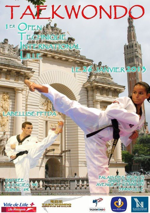 Premier Open Technique International de Lille dans taekwondo OTIL1